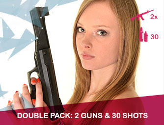 Double pack: 2 guns & 30 shots