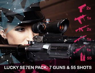Lucky Se7en pack: 7 guns & 55 shots